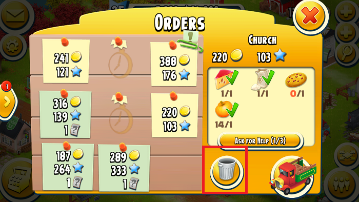 [Hay Day Tips] Discard Hay Day Truck Orders to Earn More Coins.PNG